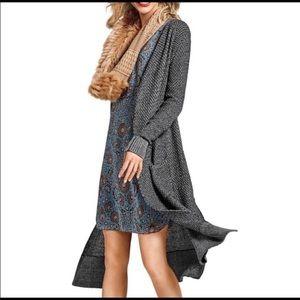 CAbi Lara Duster Maxi Gray Cardigan Sweater Sz S